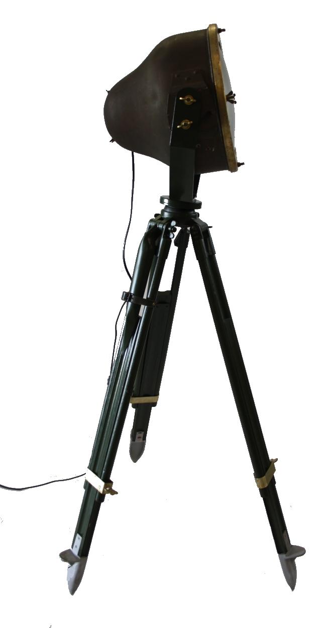 Industriele vloerlamp op statief zijwaarts for Industriele vloerlamp