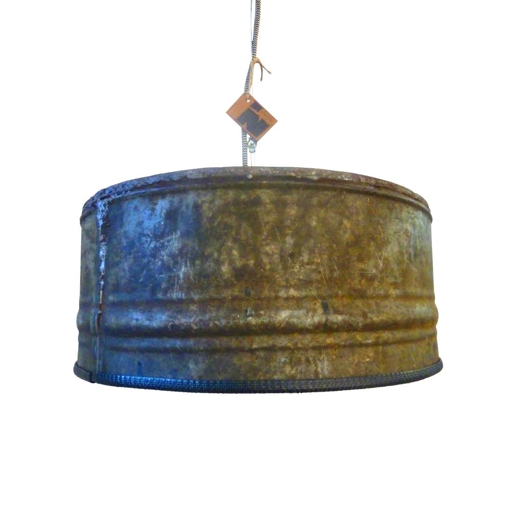 Industri le hanglamp rusty roest wonen for Kleine industriele hanglamp
