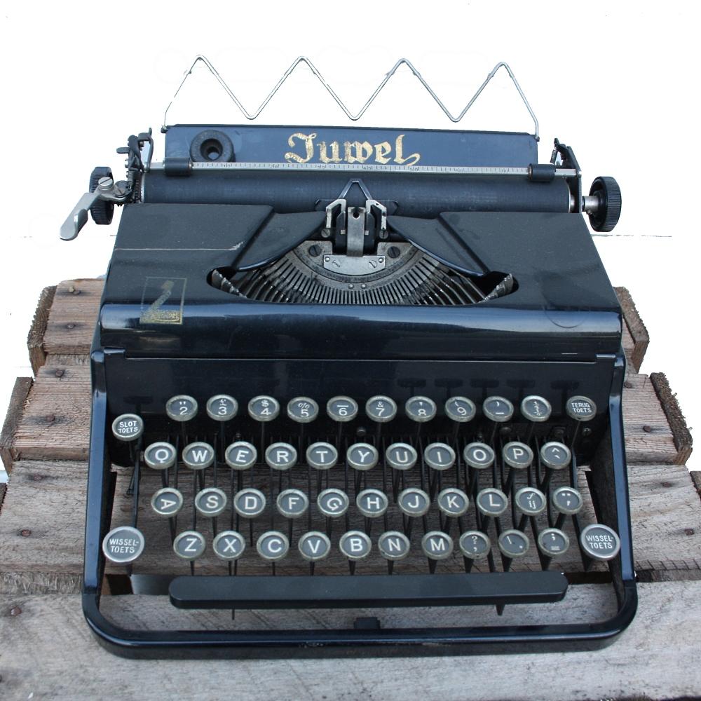 Oude Typemachine Juwel Roest Wonen